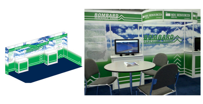 Bombard Renewable Energy Convention Booth