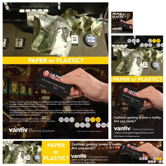 Vantiv Gaming Solutions: Print and Digital Campaign: Cashless Gaming