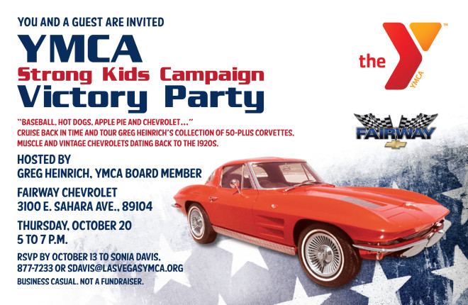 YMCA Strong Kids Victory Party Flyer
