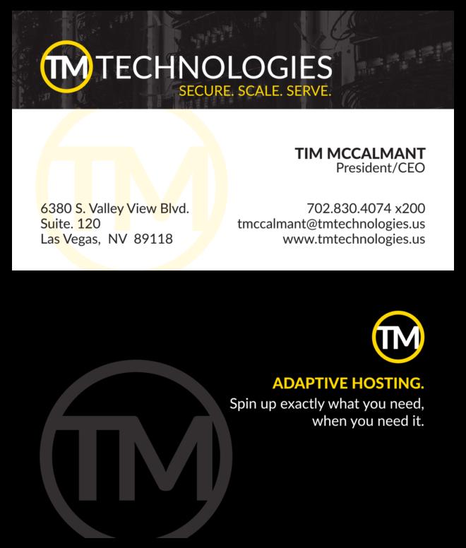 TM Technologies Business Cards
