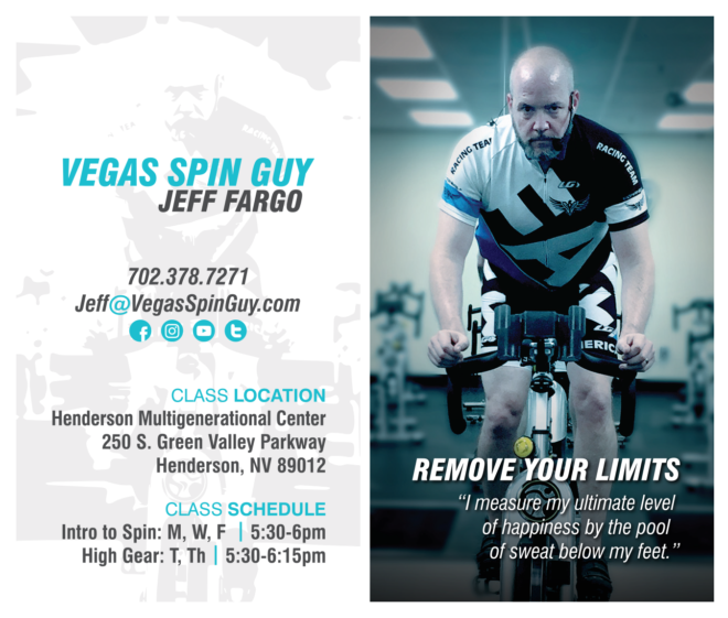 Vegas Spin Guy Business Cards